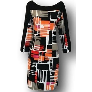 Banana Republic Mod Geometric Print Dress XS